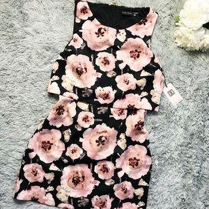 Ivanka Trump Floral Blush & Black Dress